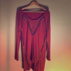 Red FreePeople Tunic.